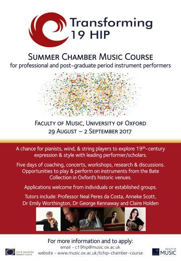 Summer Chamber Course Poster